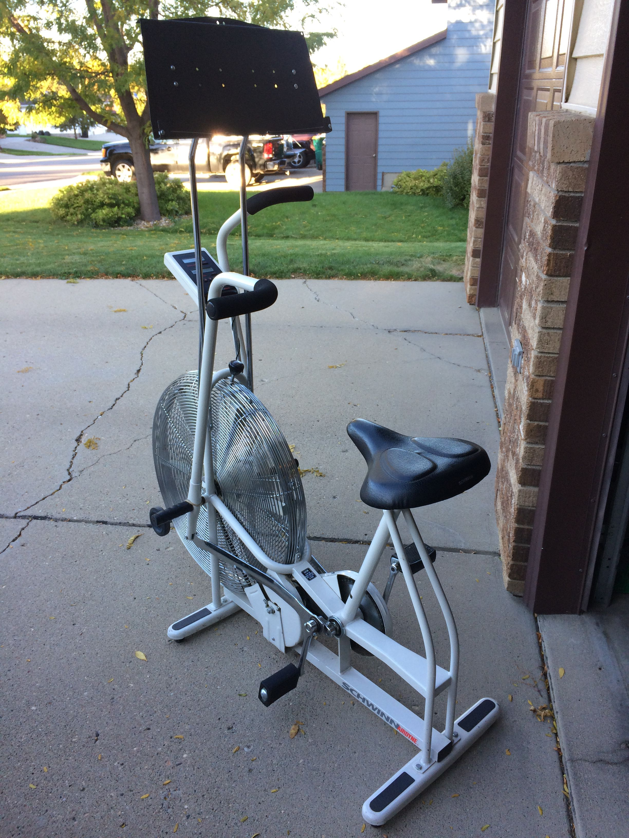 Schwinn Airdyne Exercise Bike with reading stand image 1