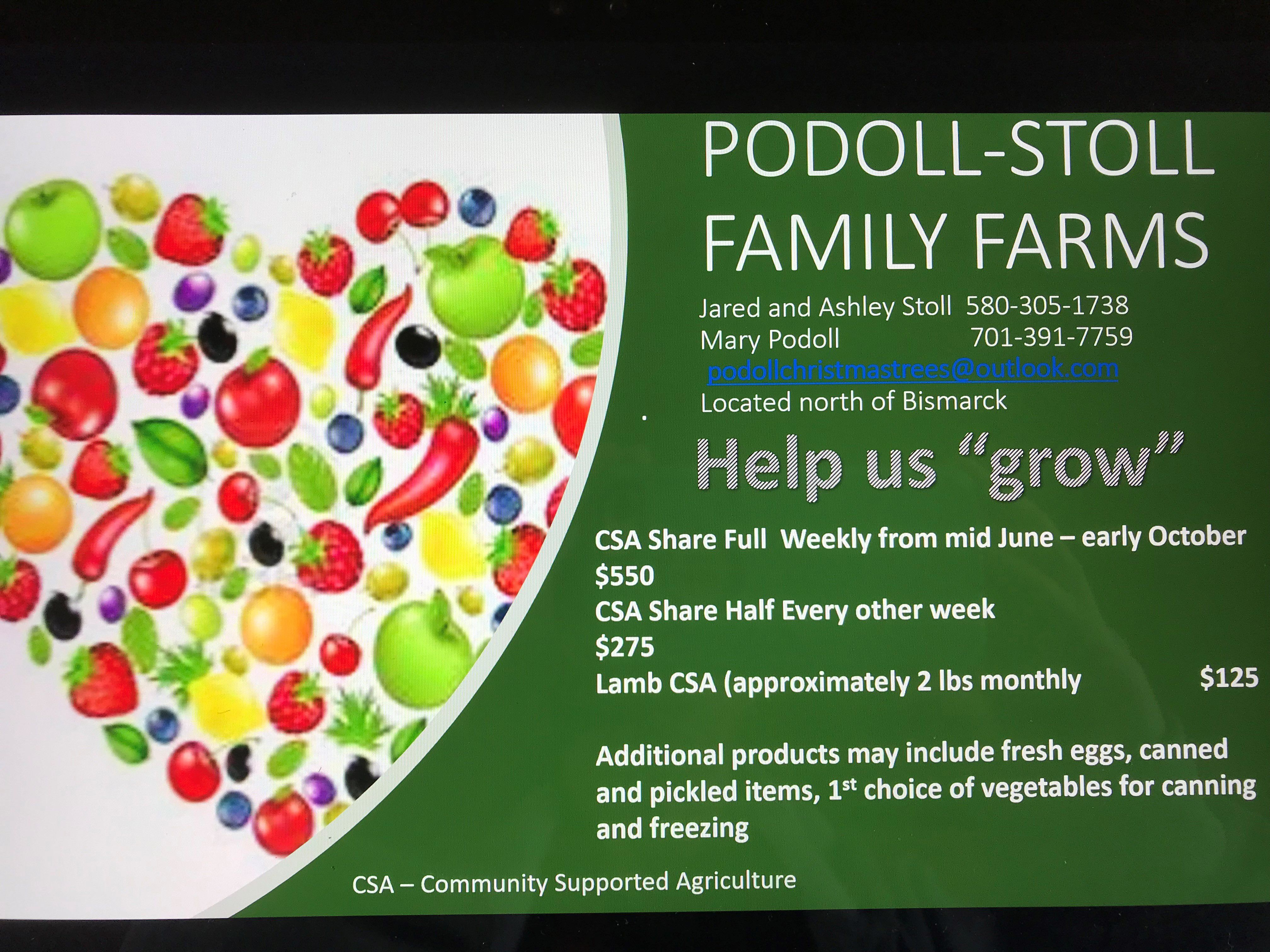 Podoll-Stoll Farms Vegetable Baskets (CSA) image 1