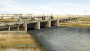 Five different F-M flood diversion plans and a massive ring dike studied