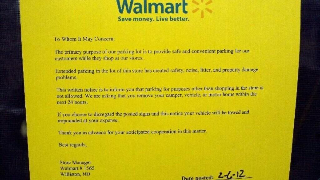 Walmart Gives Oil Workers 24 Hours Clear Out Of Williston