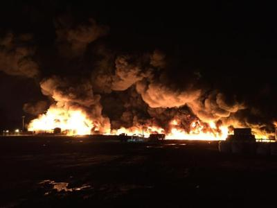 Explosion at oil and gas waste disposal site contained