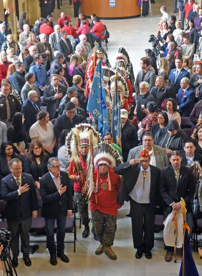 Tribal flag display called 'small, symbolic' step toward improved