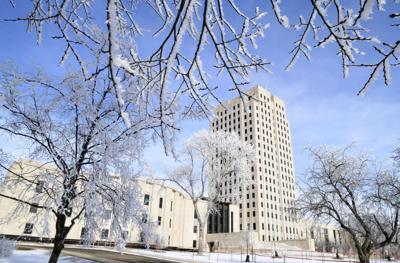 Capitol in frost