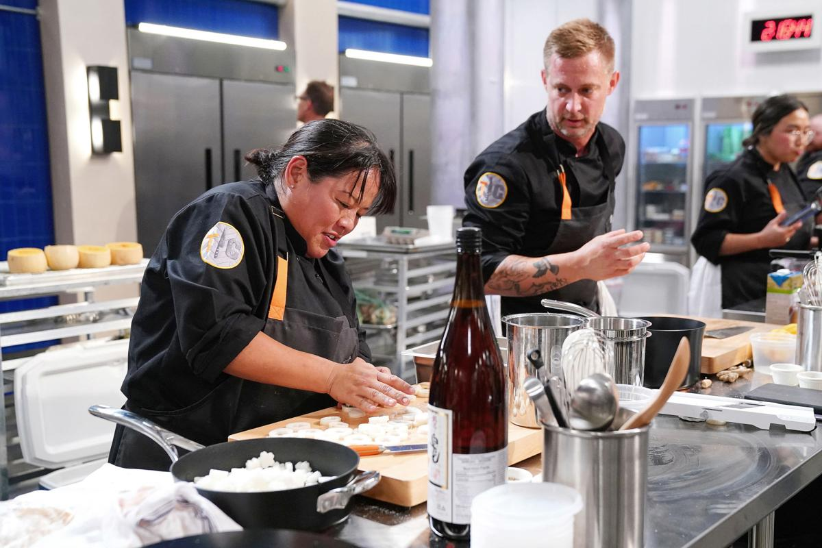 """Lee Anne Wong, left, and Bryan Voltaggio in """"Top Chef."""""""