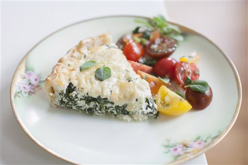 Food Mothers Day Ricotta Tart