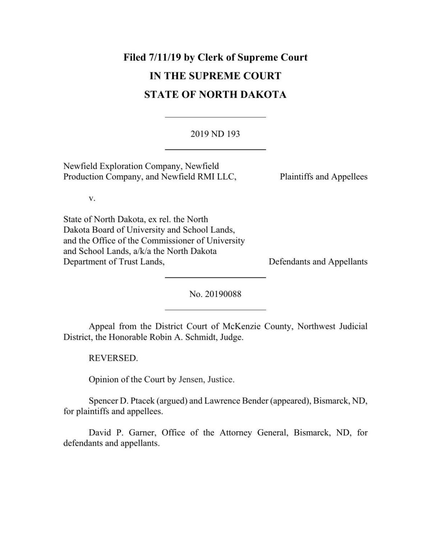 ND Supreme Court opinion