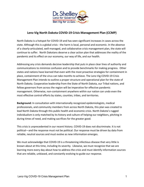 Lenz-Vig COVID-19 Crisis Management Plan