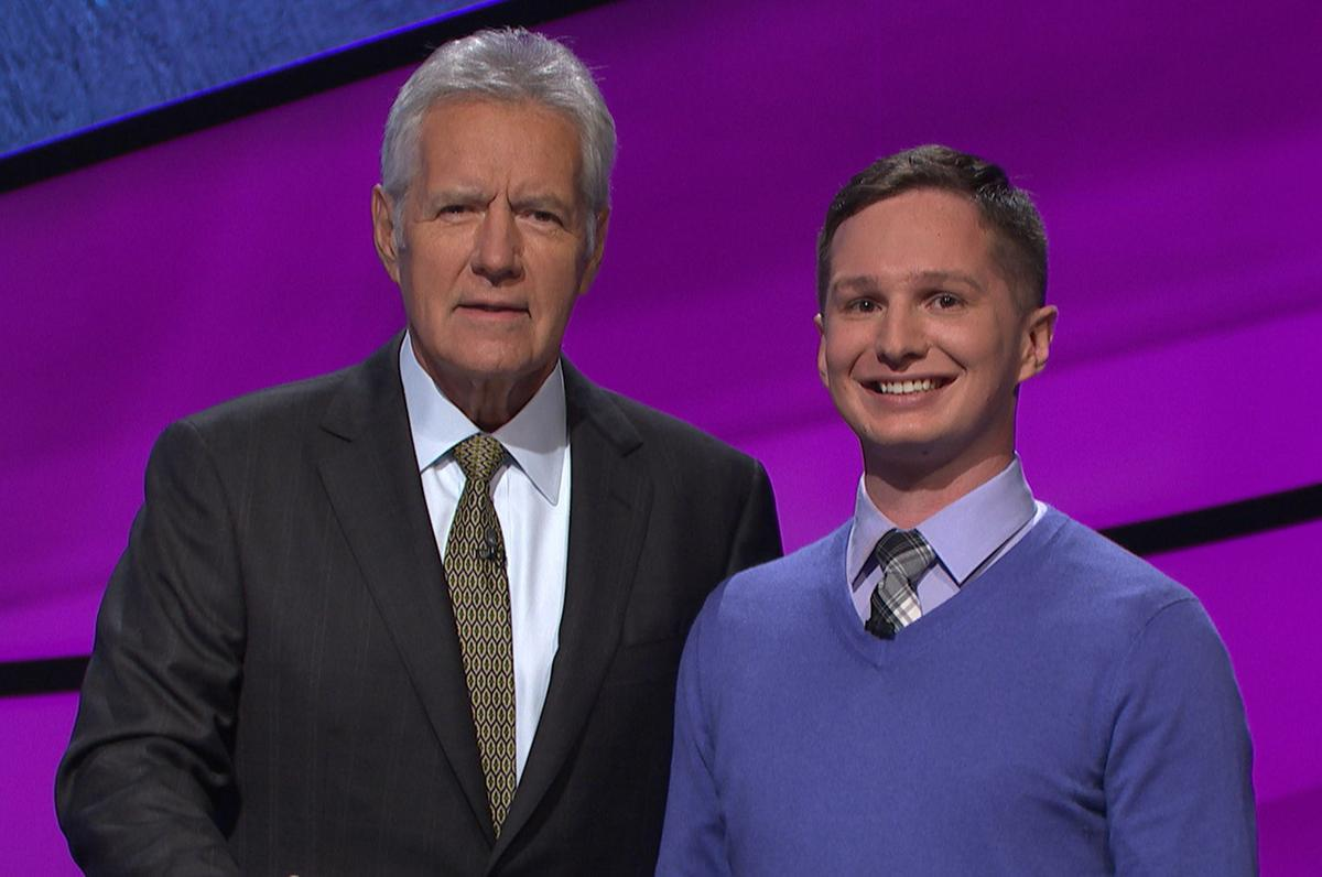 Kyle Becker with Alex of Jeopardy!