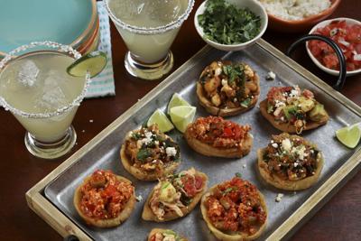 Chalupas and sopas, made of chorizo with potato, tofu, and chicken with avocado.