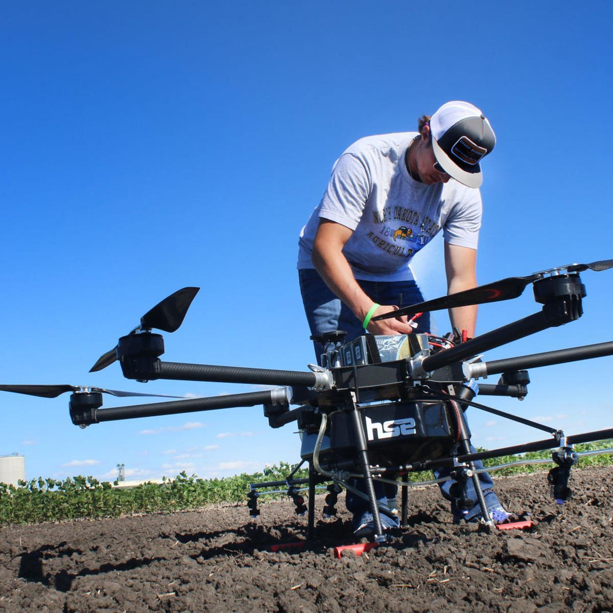 NDSU tests new 'spray drone' | North Dakota News | bismarcktribune com