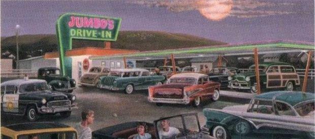 Jumbo's Drive-In painting