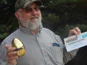 Bismarck man 'excited' after locating Tribune's golden egg