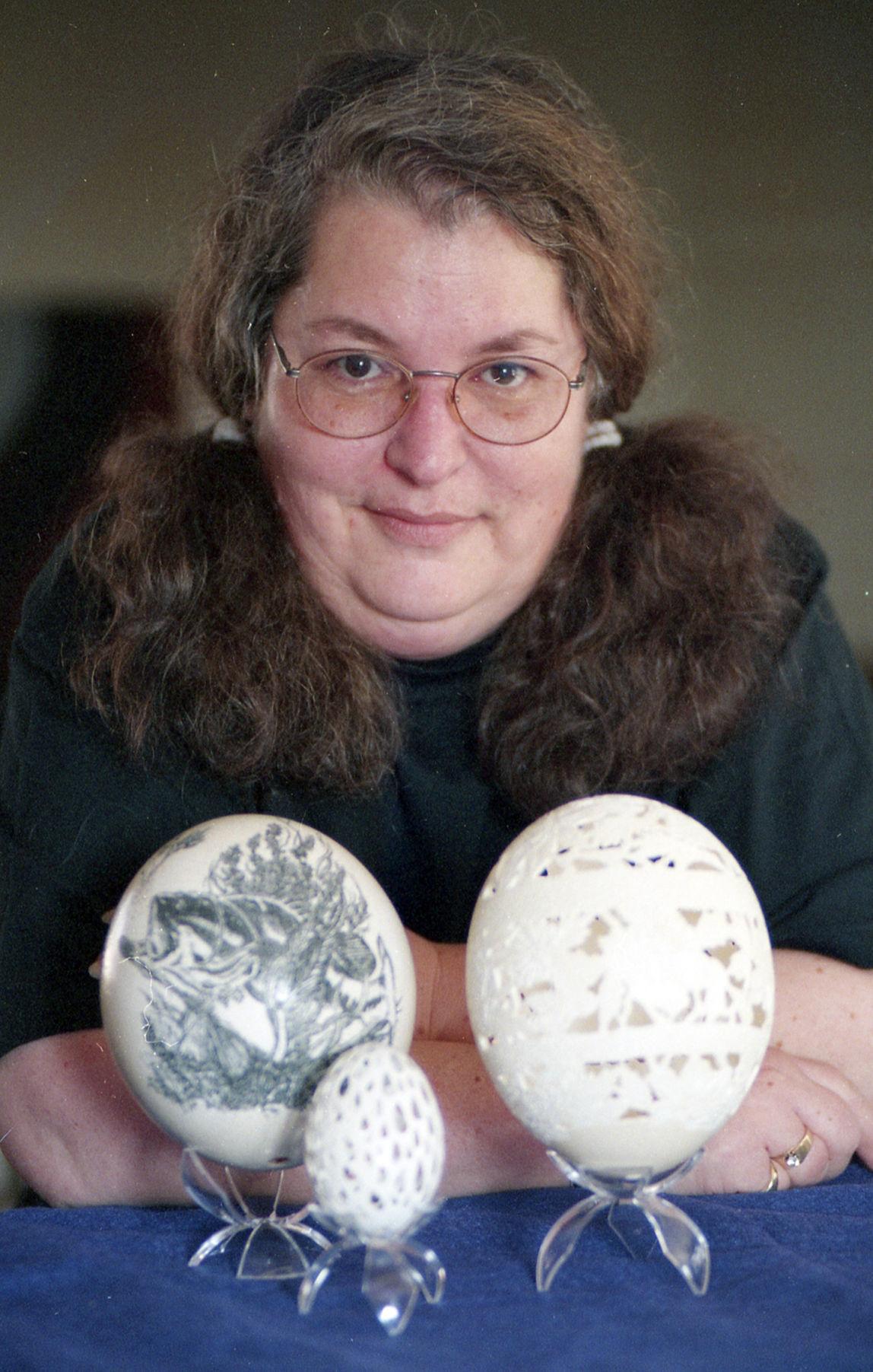 Diane Boschee ostrich eggs