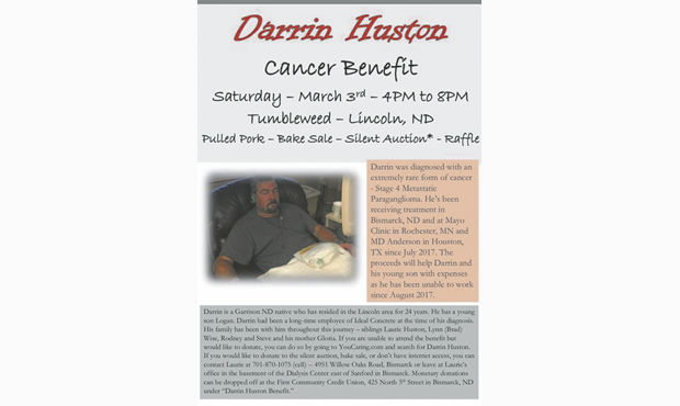 Darrin Huston Cancer Benefit