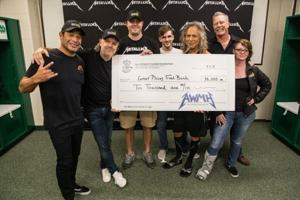 Metal group Metallica donates $10,000 to food bank in Fargo