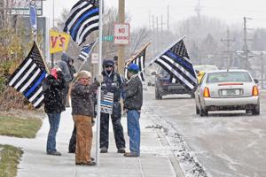 Back the Blue supporters protest Bismarck Tribune