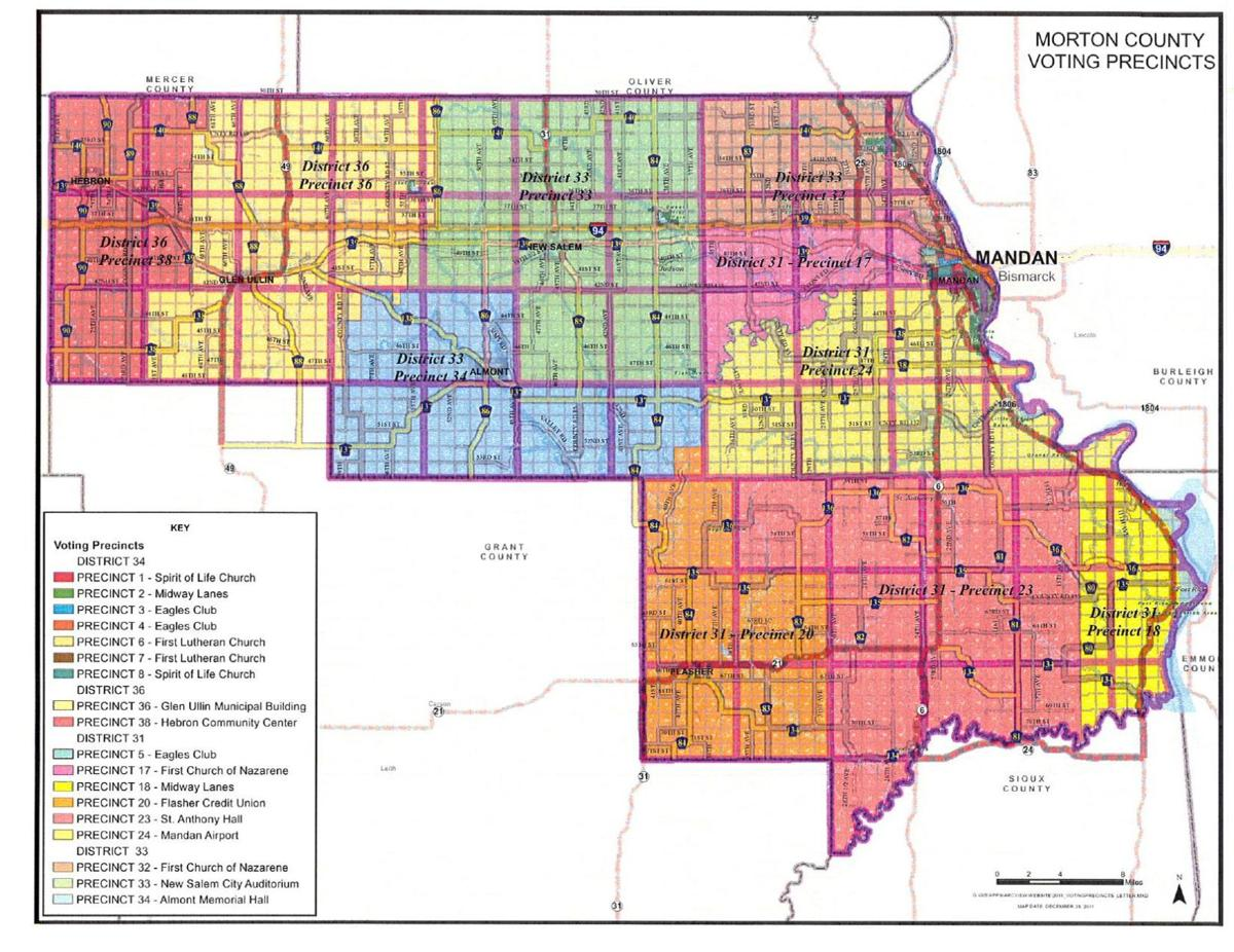 Morton County Voting Precinct Map