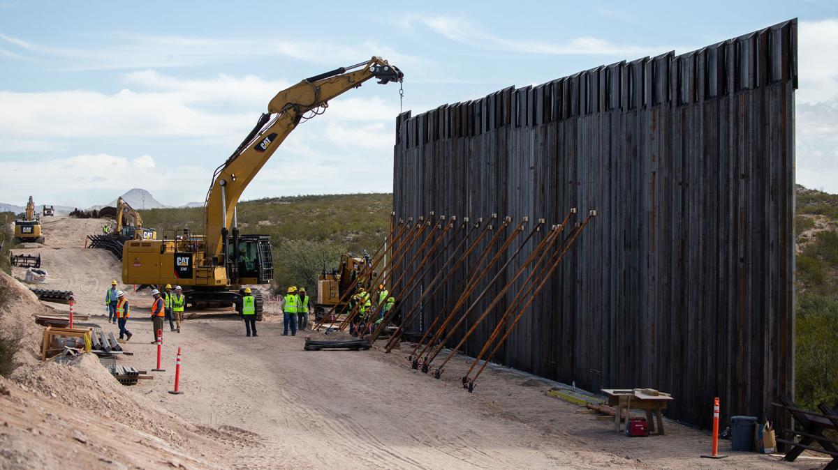 Border Wall construction near Douglas