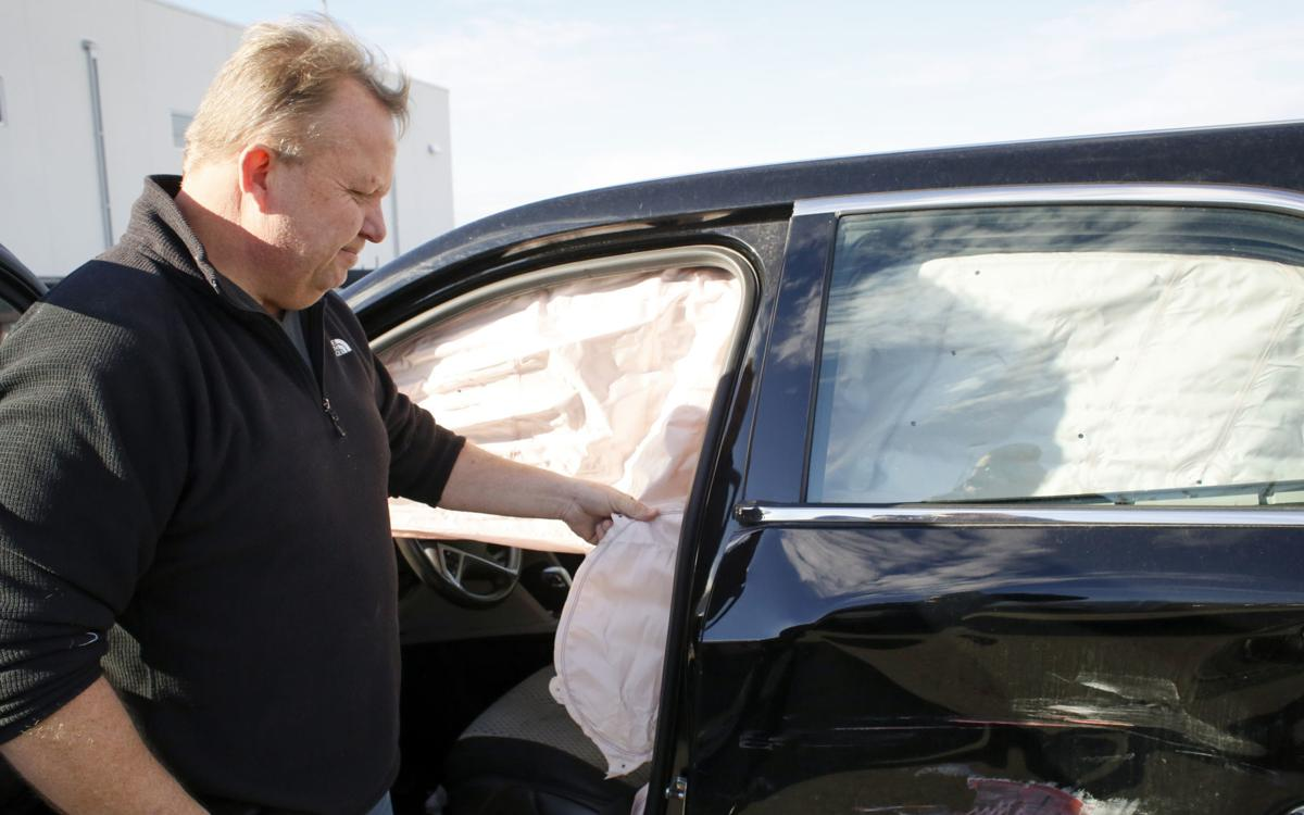 Victor Peterson, general manager of Corwin Collision Center in Fargo, said Wednesday this car will likely be totaled because of the prohibitive costs of ...