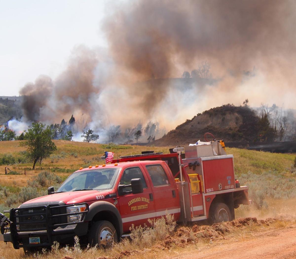Fighting fire in Grassy Butte