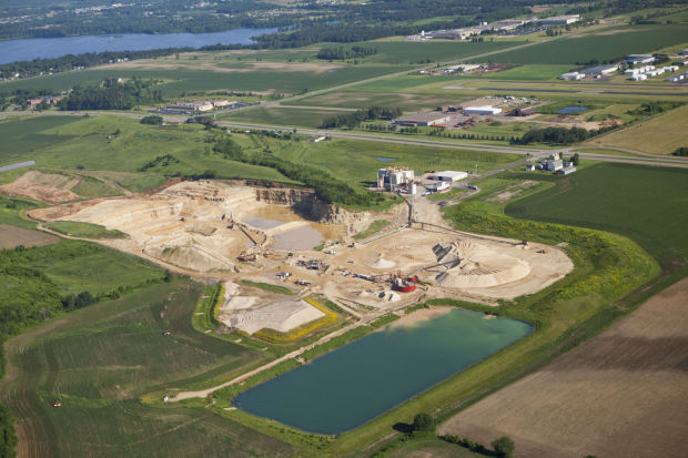 Fairmount Minerals frack sand mine
