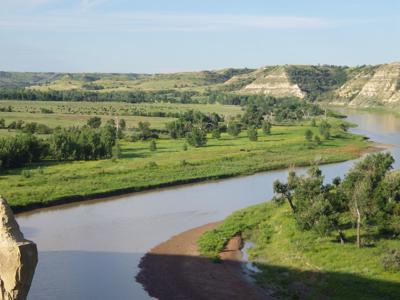 Little Missouri River at Wind Canyon
