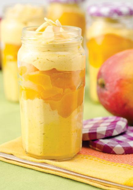 Peach and Mango Parfait