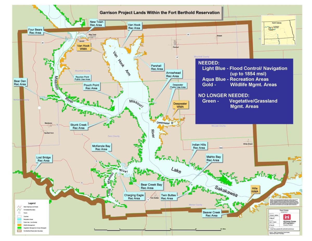 Map Fox Island Nd
