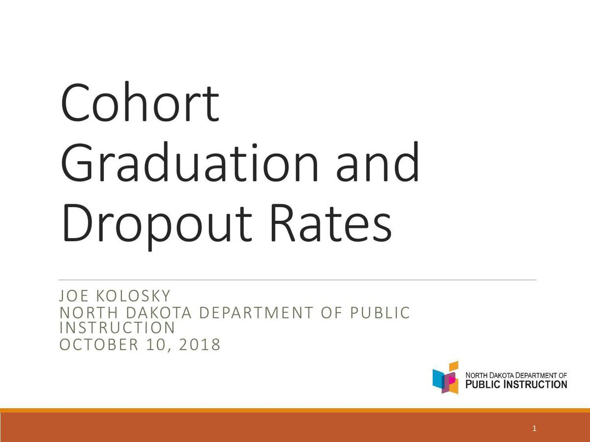 Graduation and dropout rates presentation