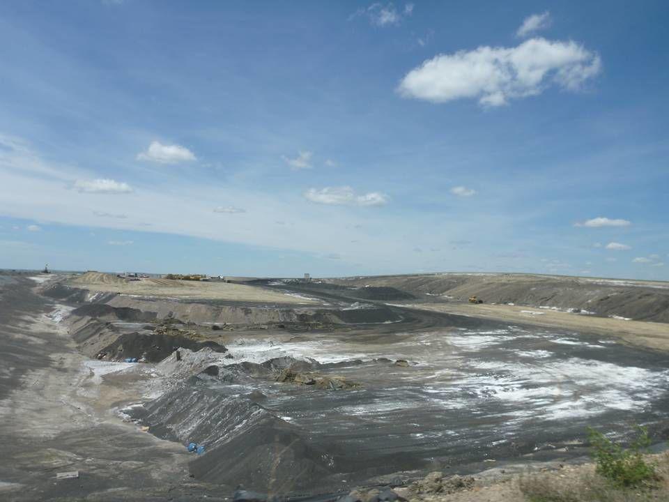 Coal ash disposal landfill