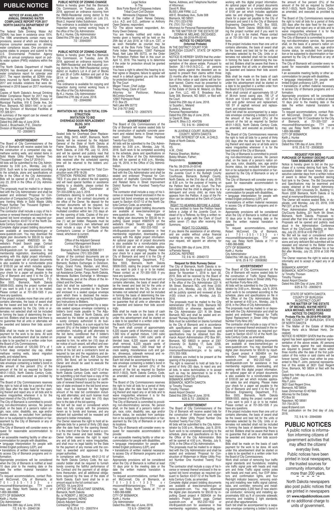 Legals - July 2, 108