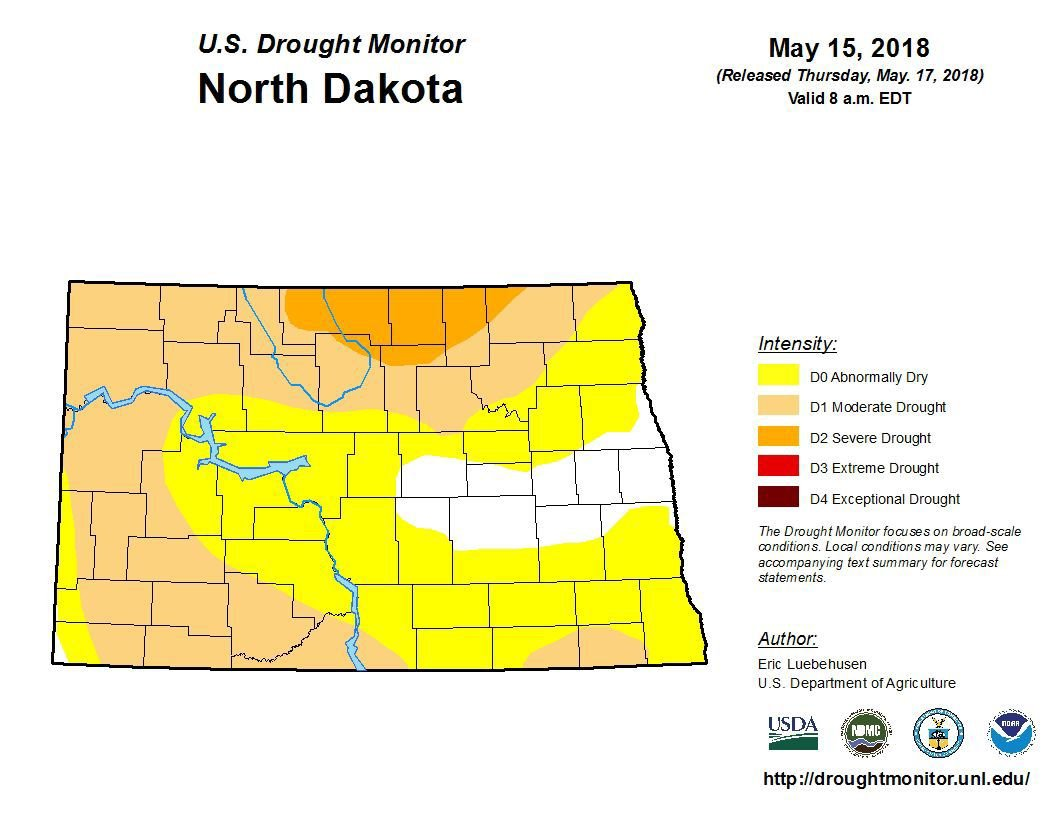 Drought map for May 15, 2018