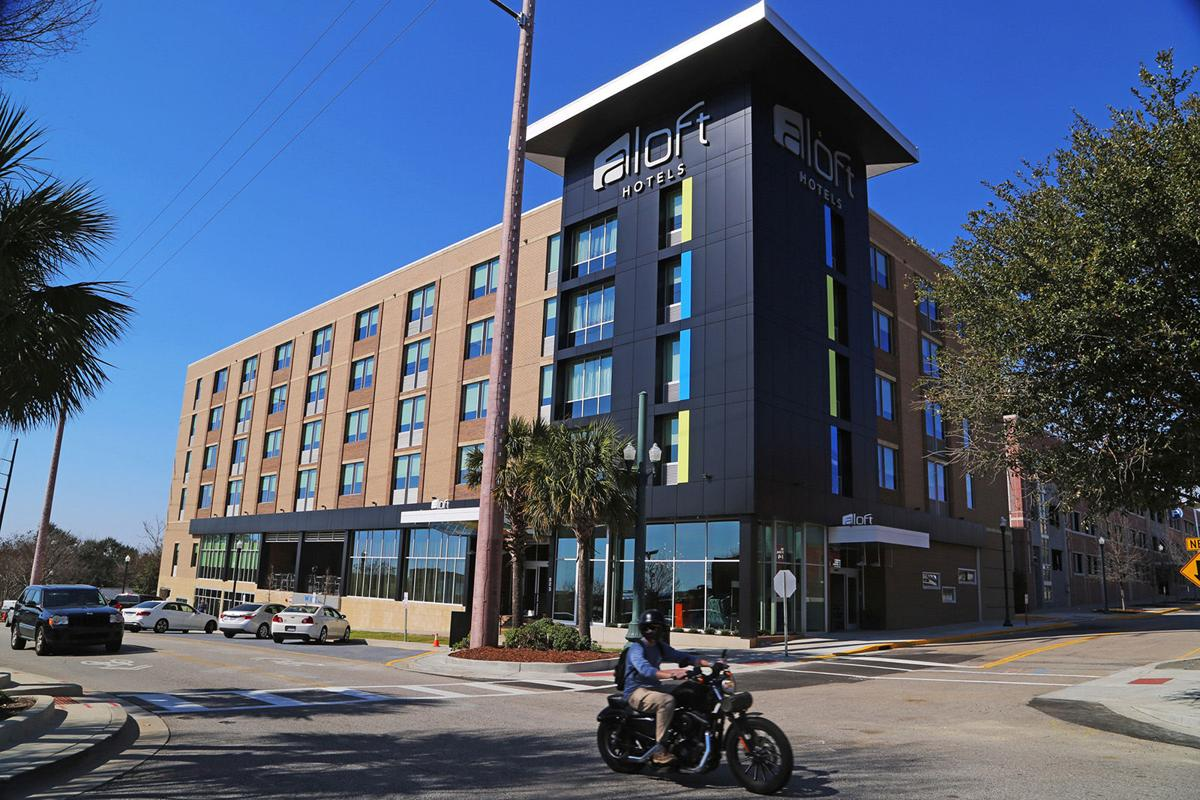 The new five-story, 107-room Aloft hotel.