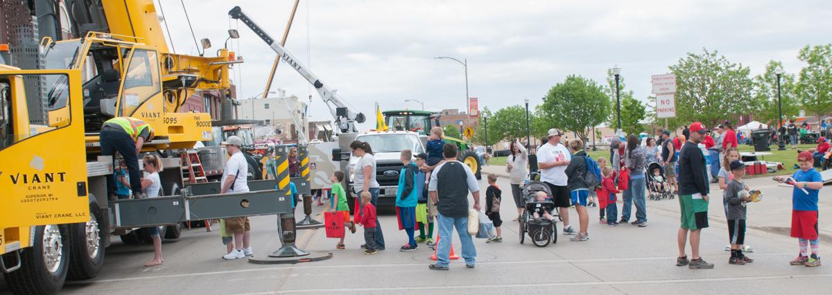 Touch a truck crowd