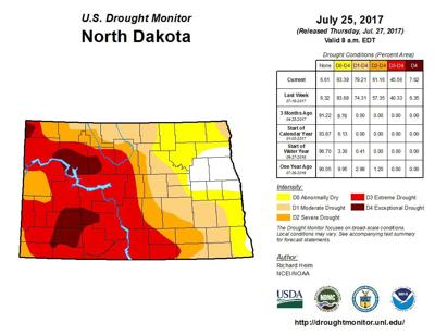 Drought map for July 25, 2017
