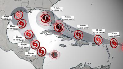 Two tropical systems could threaten the Gulf Coast at the same time