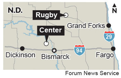 Center and Rugby ND