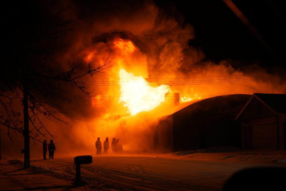 Dakota Farm Equipment fire in Elgin