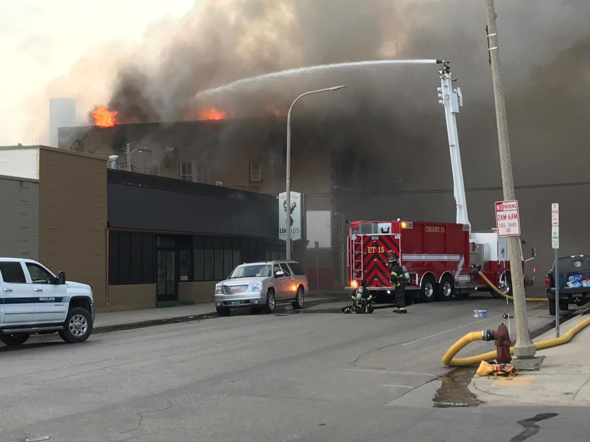 Fire destroys historic downtown icon in williston north for The williston