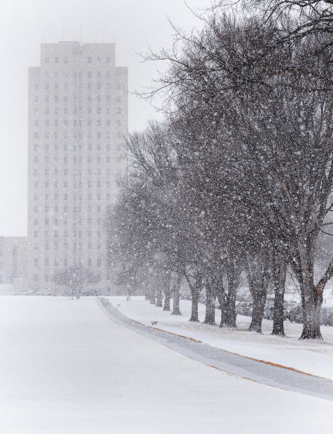 Snow fall at Capitol