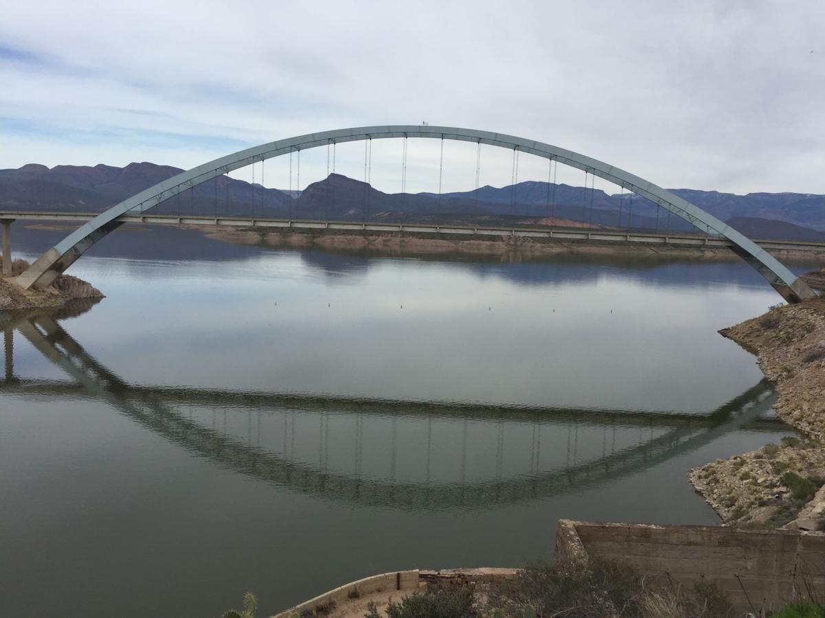 Bridge over the Salt River in Arizona near Superstition Mountain