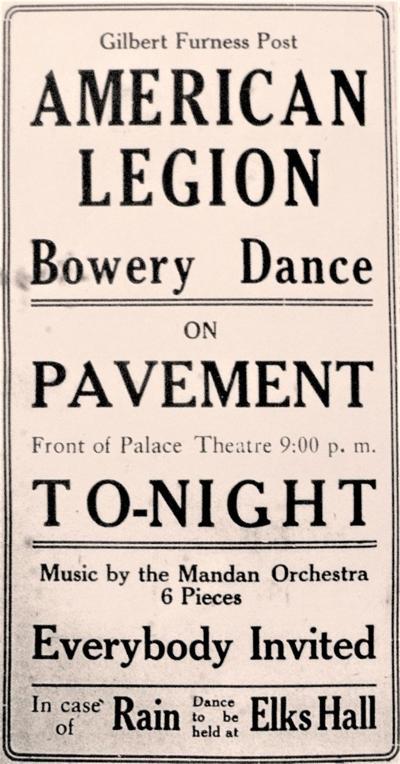 Legion Bowery dance, 1919