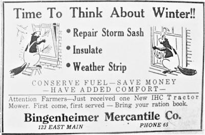 Bingenheimer ad
