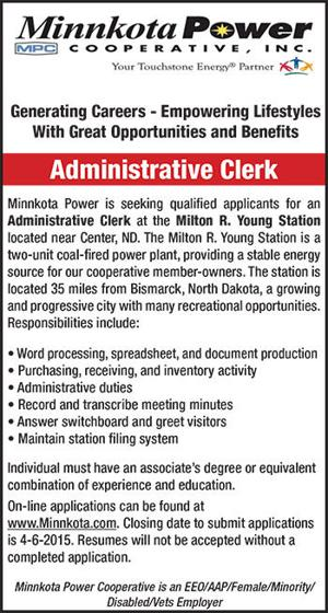 Minnkota Power Cooperative, Inc  | | Center, ND