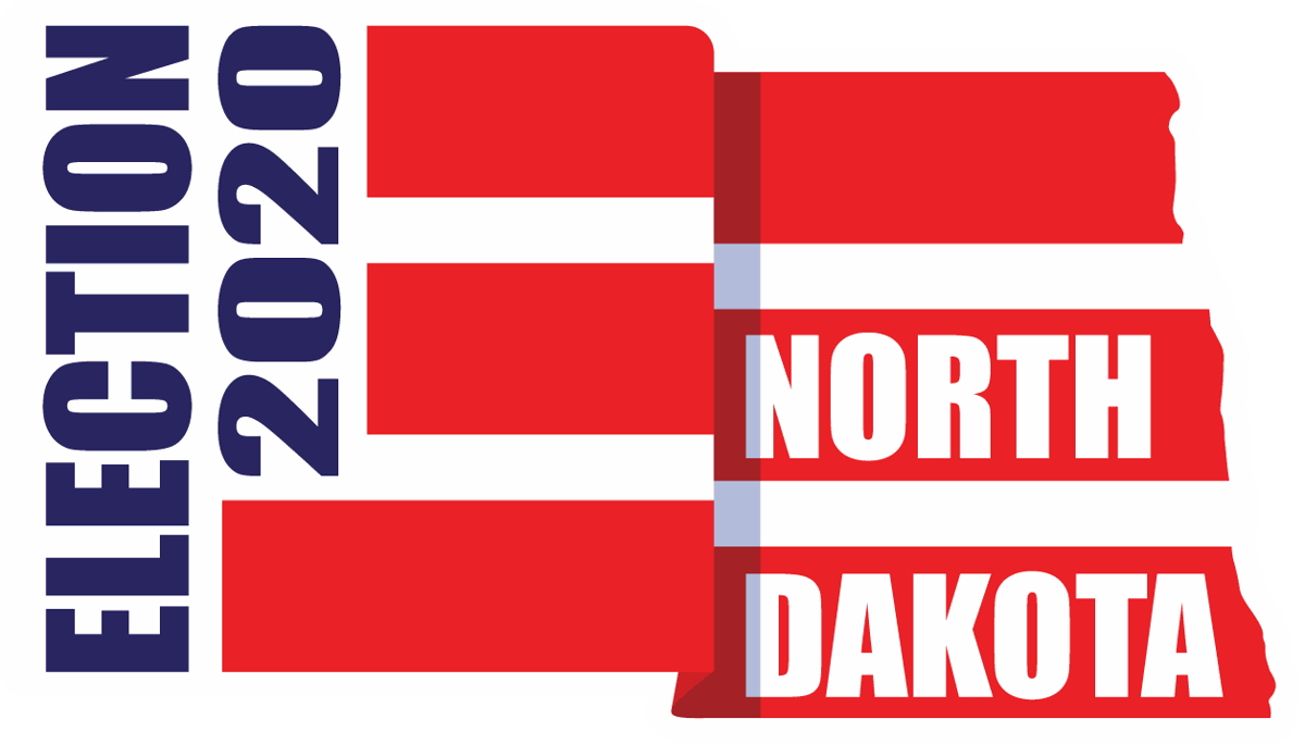 Election 2020 North Dakota Logo