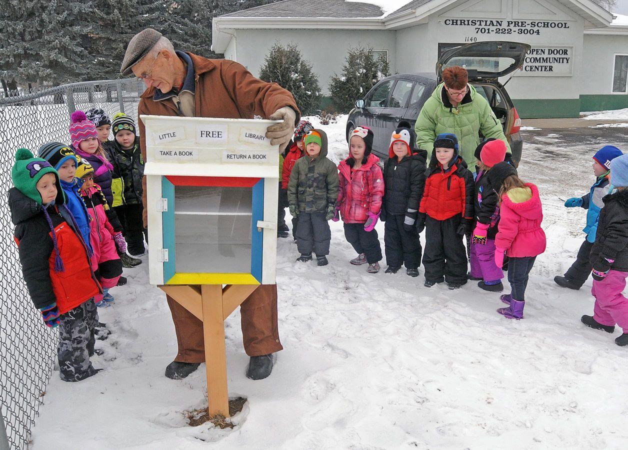 Open Door Preschool Installs Little Library