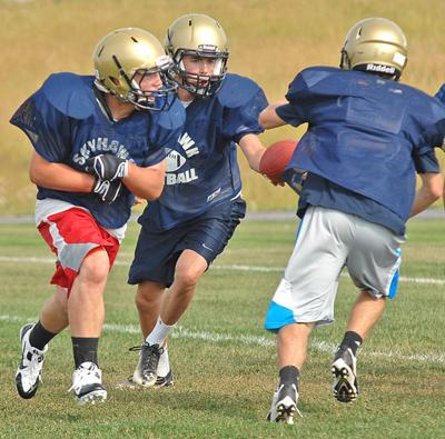 Football practice kicks off