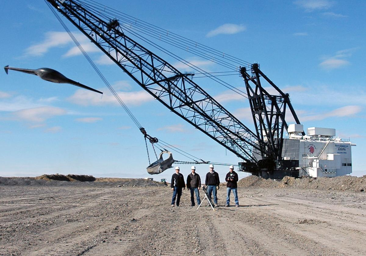 drone photo coal mine