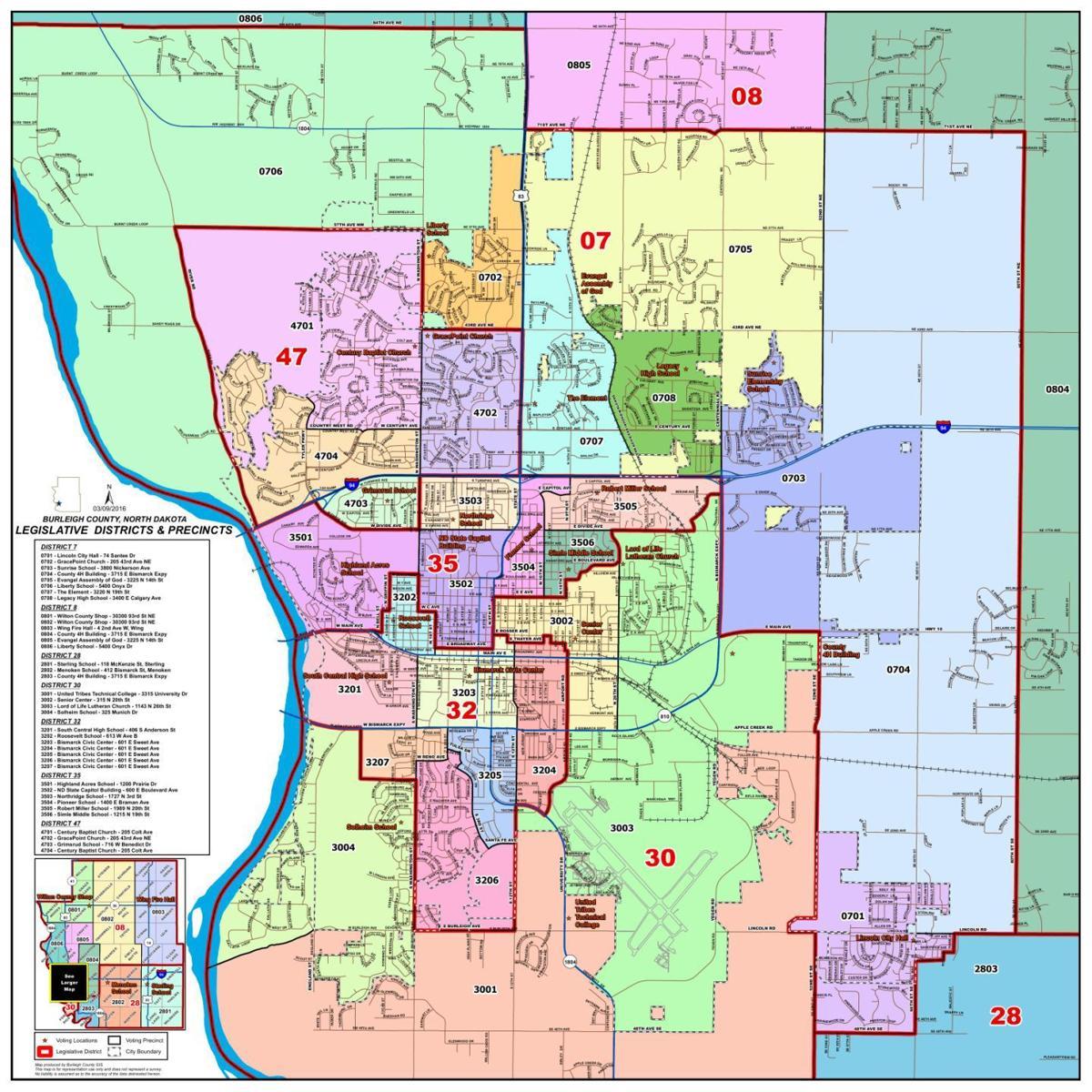 Bismarck-Burleigh Voting Precinct Map