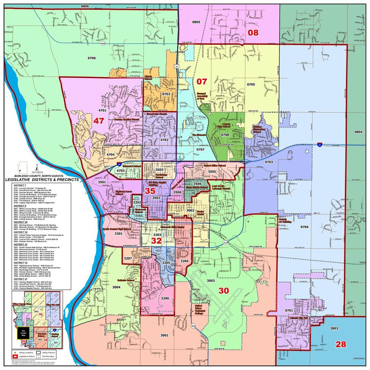 Bismarck-Burleigh Voting Precinct Map